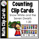 Snow White and the Seven Dwarfs Counting Clip Cards 1-20
