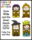 Snow White & Seven Dwarfs Fairy Tale Craft Activity: Puppet Pack for Retelling