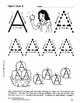 Snow White, Pre-writing Skills, Upper-case Letters