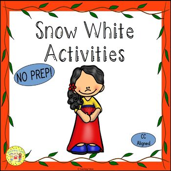 Snow White and the Seven Dwarfs Fairy Tales Worksheets Activities Games and More