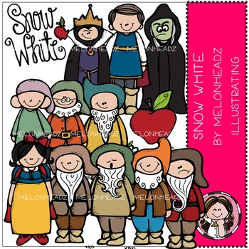 Snow White clip art - COMBO PACK- by Melonheadz
