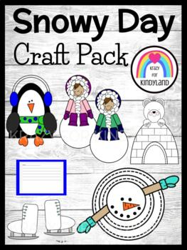 Winter Craft Pack 2:Eskimo Kids,Penguin,Melted Snowman,Polar Bear,Ice Skates