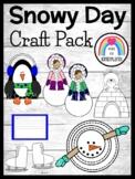 Winter Craft Pack:Eskimo Kids,Penguin,Melted Snowman,Polar Bear,Ice Skates