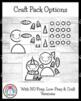 Winter Craft Pack: Snowman, Name Snowman, Kids, Snow Globe, Mittens and Hat