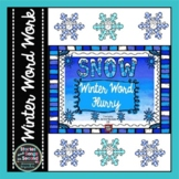 Snow Winter Word Flurry--Literacy Skill Pack
