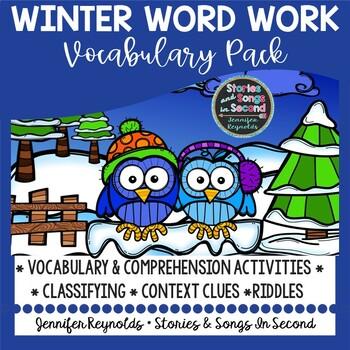 Snow Winter Word Flurry--Literacy Skill Pack