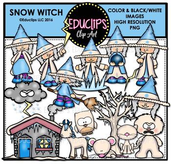 Snow Witch Clip Art Bundle {Educlips Clipart}