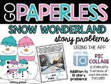 Snow Wonderland Pic Collage Addition Story Problem Templates