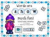 Snow Word Work Activities