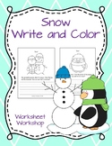 Snow Write and Color