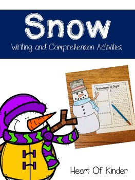 Snow Writing and Comprehension Activities