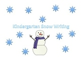 Snow Writing for Kindergarten