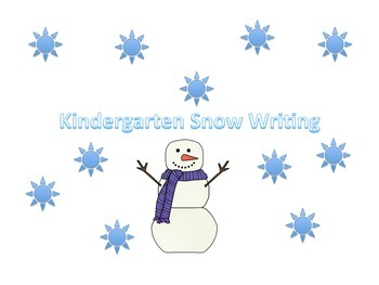 Snow Writing for Kindergarten