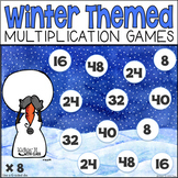 Multiplication Fact Game Pack (Winter Themed)