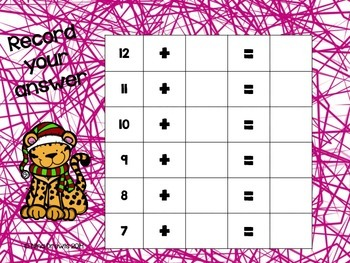 Snow Zoo Math Addition