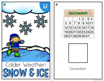 Snow and Ice Adapted Book { Level 1 and Level 2 } Winter Weather