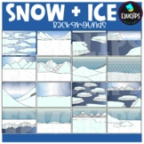 Snow and Ice Backgrounds Clip Art Set {Educlips Clipart}