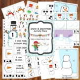 Snow and Snowman Themed Preschool Activities and Centers