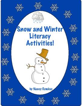 SNOW AND WINTER LITERACY ACTIVITIES-BRRRR!