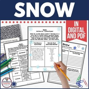 It's a Snow Day! Just kidding! This book is a great choice for kid writing about snow days though. Cynthia Rylant's descriptive writing help young children imitate her style in their own writing. Check out this post for reading and writing skills you can teach.