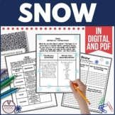 Snow by Cynthia Rylant Book Companion