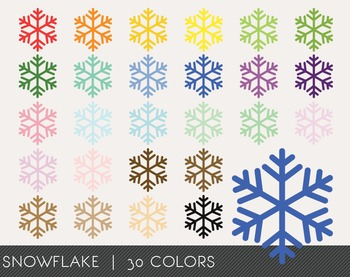 Snow flakes Digital Clipart, Snow flakes Graphics, Snow fl