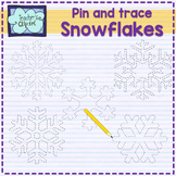 Pin and trace Snowflakes clip art