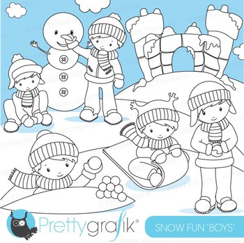 Snow fort stamps commercial use, vector graphics, images - DS623