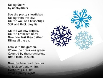 Snow is Falling-poem (PowerPoint)