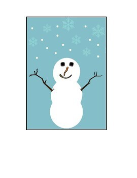 Snow lesson plan and Snowman Sequencing Cards