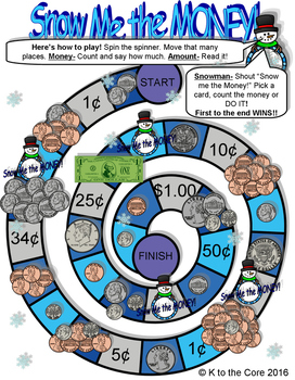 Snow me the MONEY!! Winter Board Game