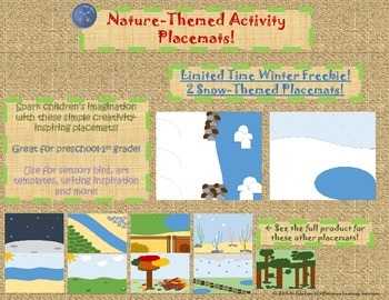 Snow-themed Activity Placemats- Winter Sample Freebie!