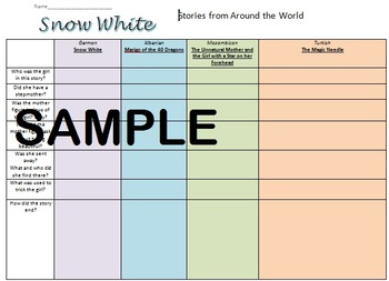 Snow white around the world fairy tales multicultural