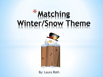 Snow/Winter Matching Game