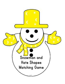 Snowman Hats Shapes Matching Game