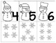 Winter Themed Numbers 1-10 Go Fish/Memory Cards