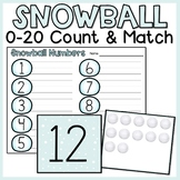 Snowball 0-20 Count & Match | Number Writing Practice