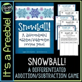 Snowball!  A Differentiated Addition and Subtraction Game for Grades 2-4