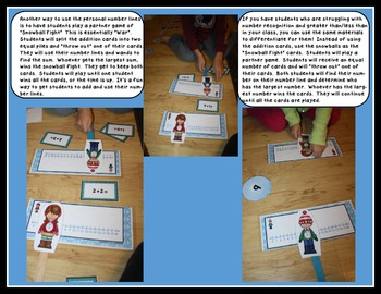 Addition, Number Lines, Missing Addends: Snowball Addition