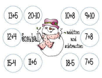 Snowball Addition and Subtraction