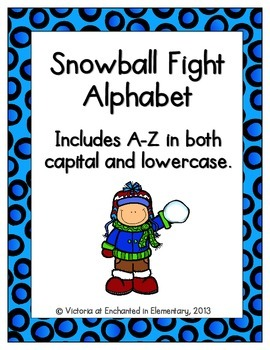 Snowball Fight Alphabet! Letter and Sound Recognition Game