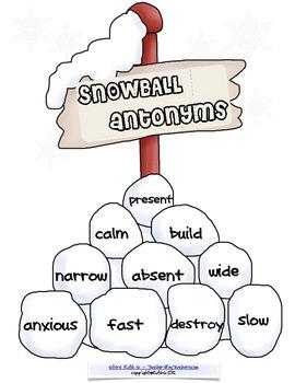 Snowball Antonyms
