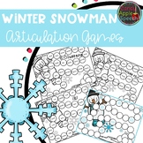 Winter Theme Snowball Articulation Game