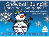 Snowball Bump Literacy Center Game Long Vowel OA and OW Wo