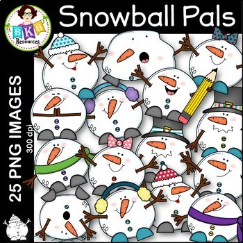 Snowball Clip Art  ● Clip Art ● Bundle