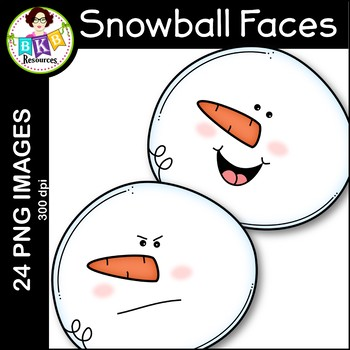 Snowball Clip Art ● Snowball Faces ● Winter Clip Art