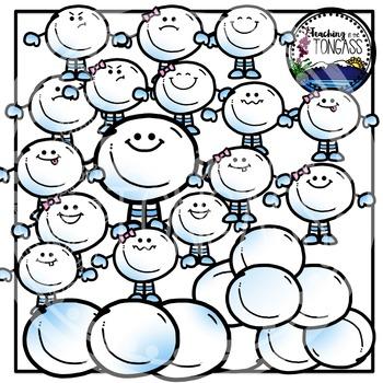 Snowball Clipart Bundle
