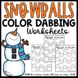 Snowball Color Dabbing Worksheets