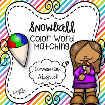 Snowball Color Word Matching