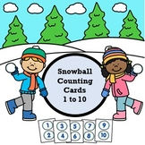Snowball Counting Cards 1 to 10